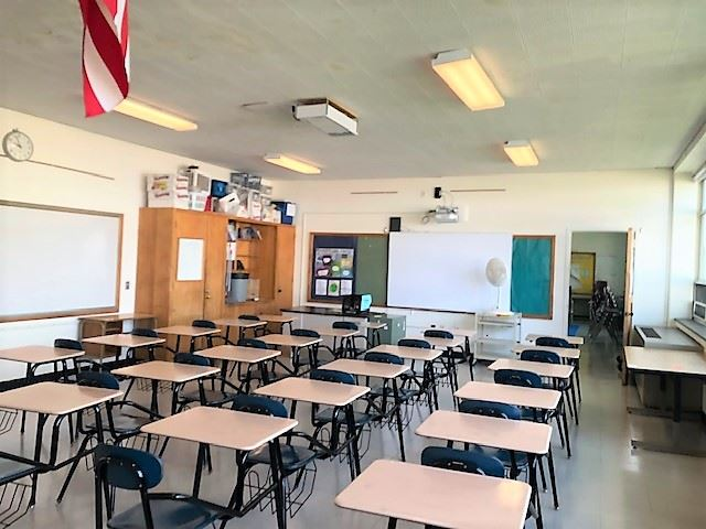 West Middle School Grade 8 Math classroom
